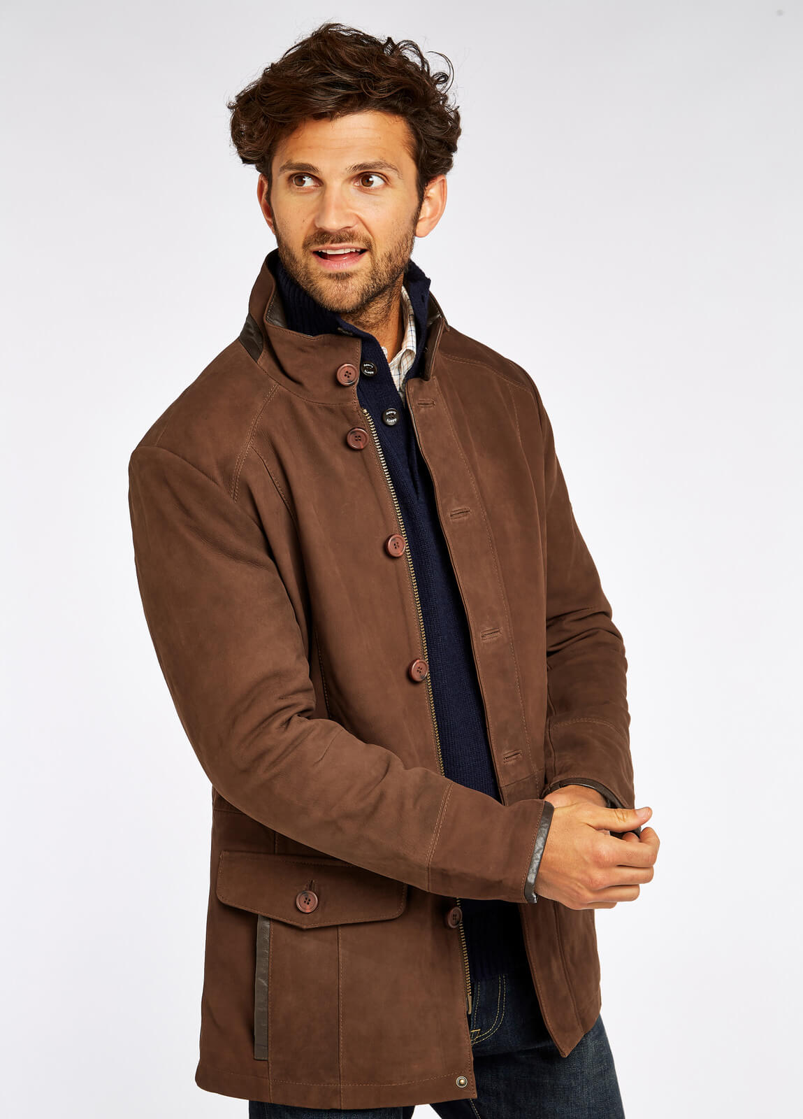 Moore Leather Jacket - Walnut