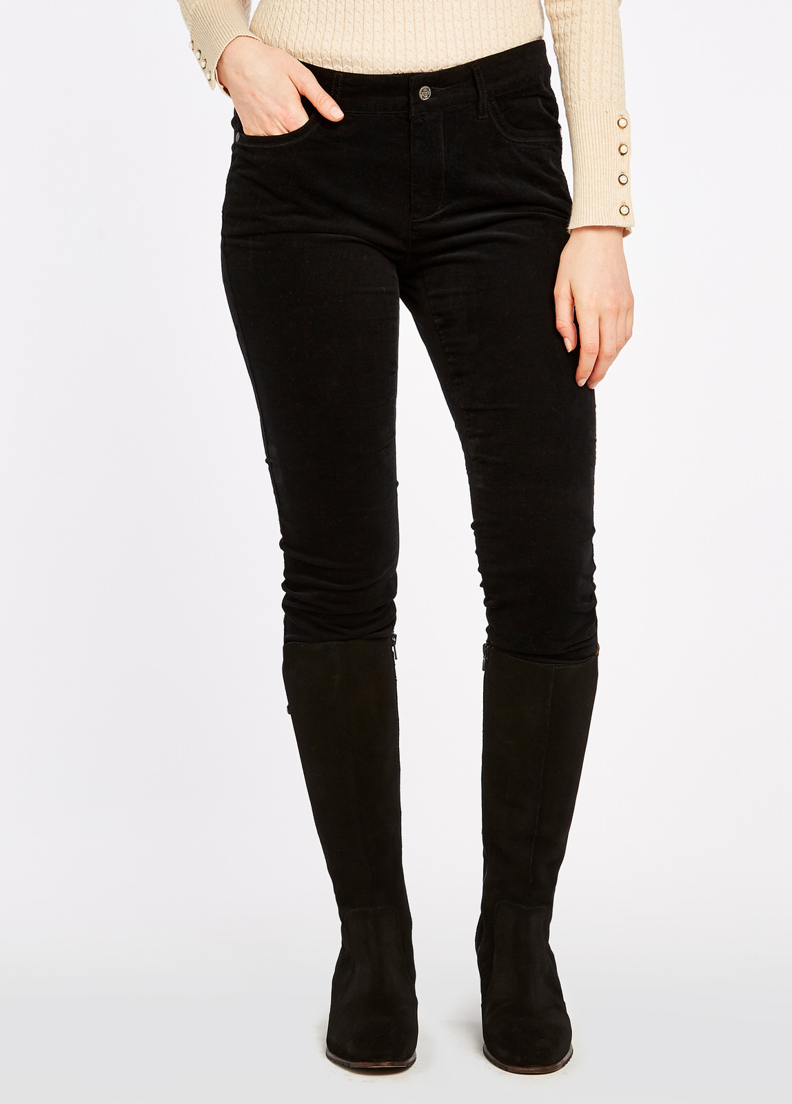 Dubarry_Honeysuckle_Jeans_Black_on_model