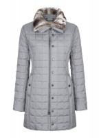 Erin Women's Quilted Coat - Light Grey