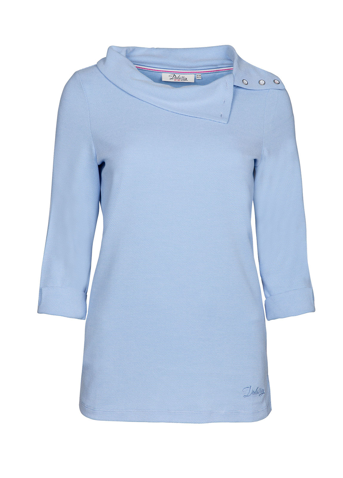 Dubarry_Malbay Three-quater sleeve top - Pale Blue_Image_2