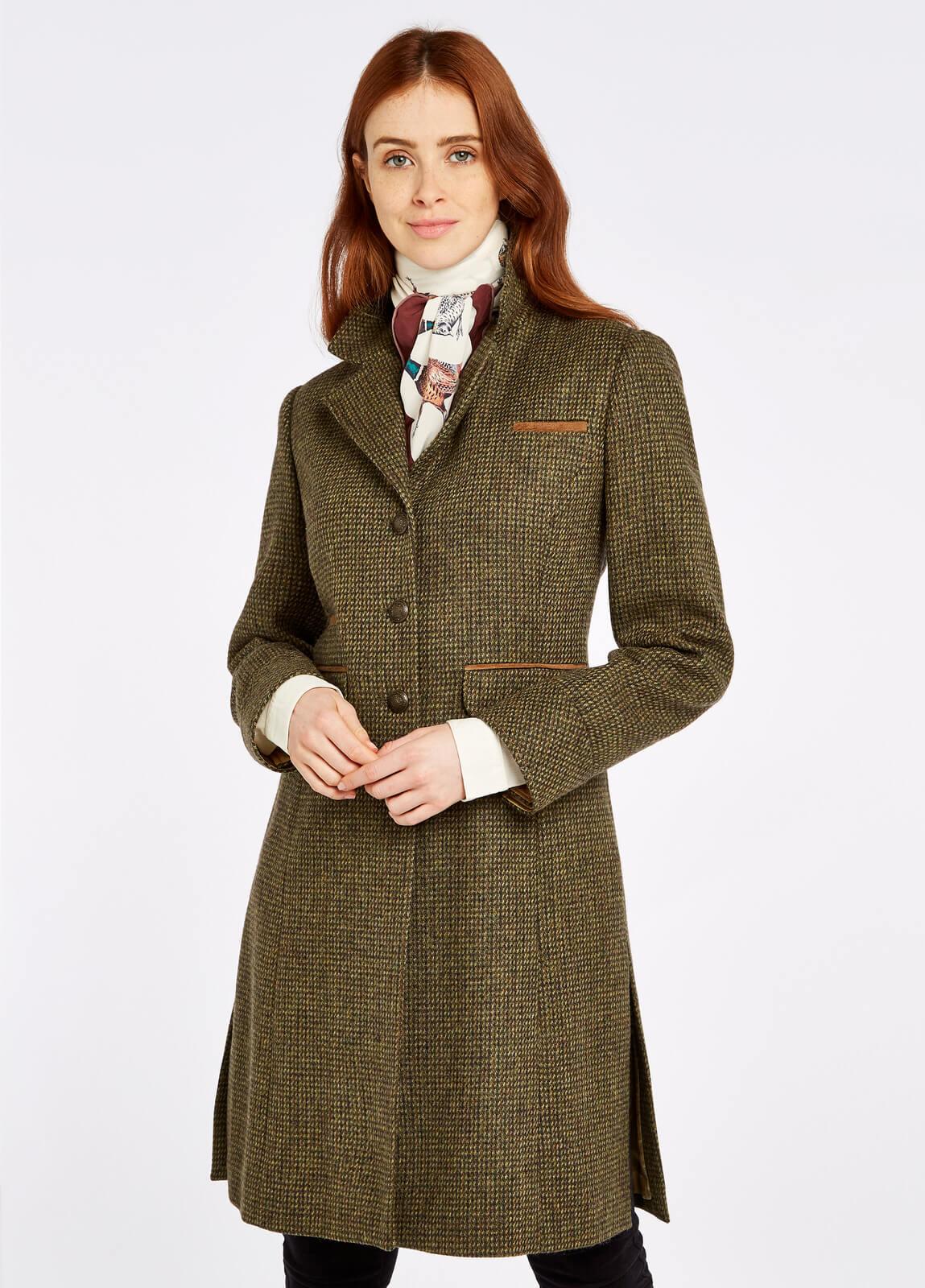 Dubarry_Blackthorn_Tweed_Jacket_Heath_on_model