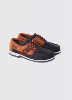 Clipper Deck Shoe - Navy/Brown