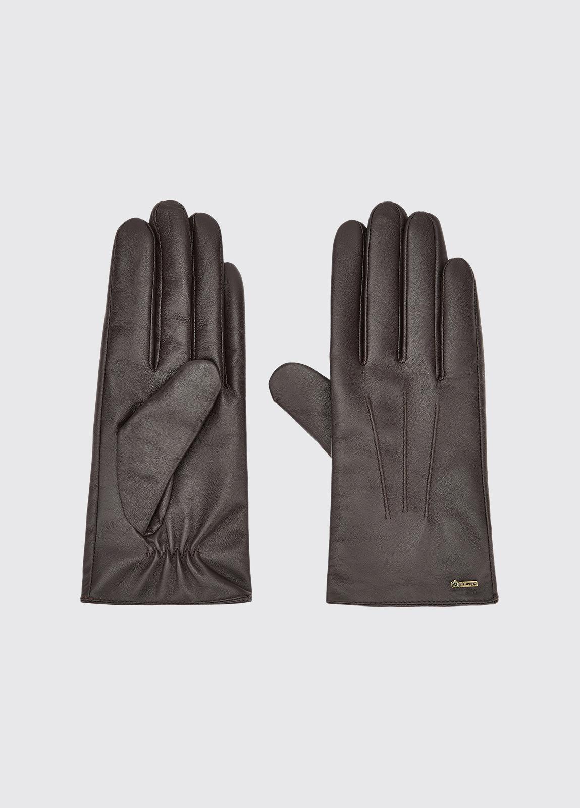 Sheehan Leather Gloves - Mahogany