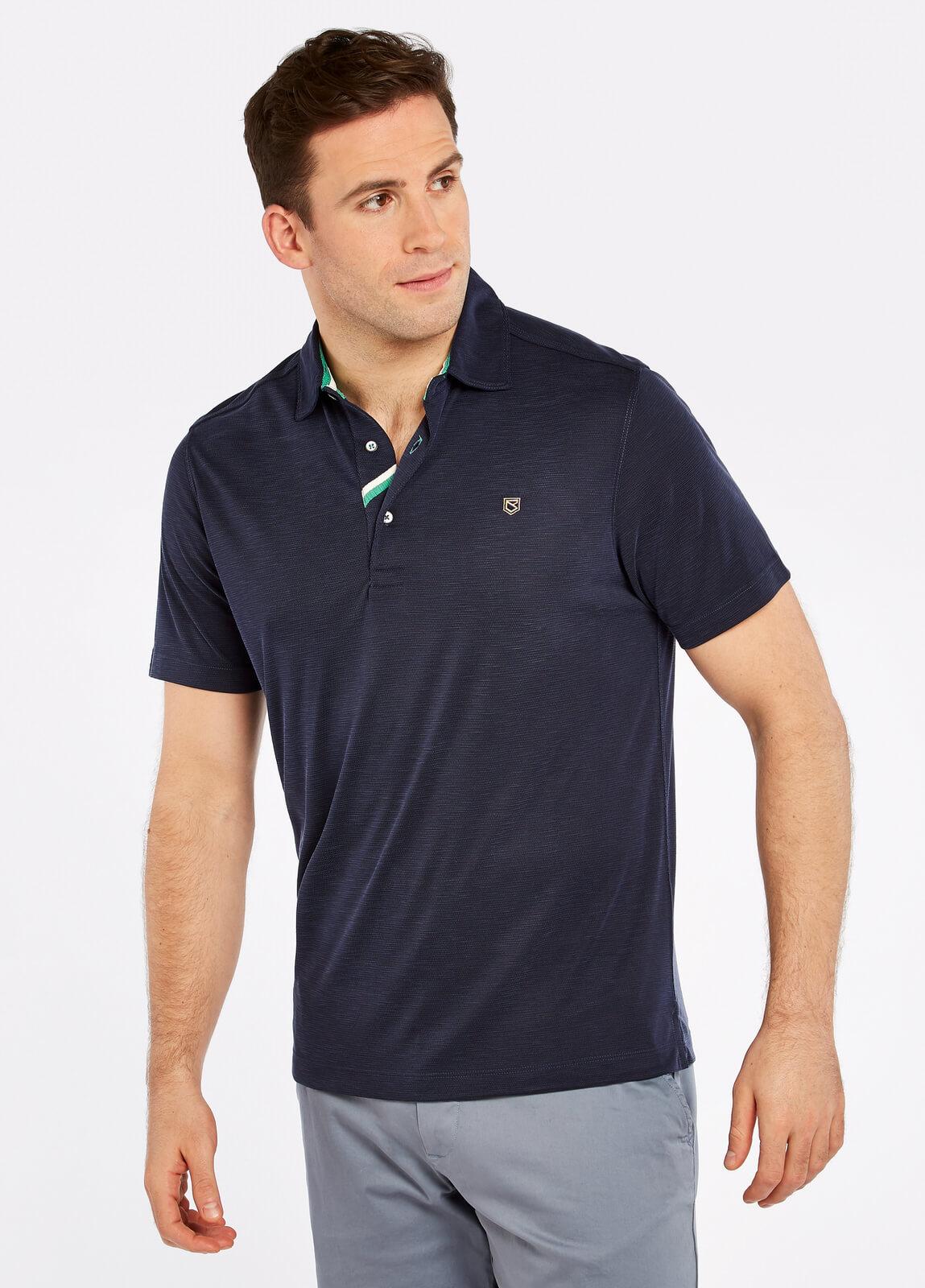 Dubarry_Corbally_Polo_Shirt_Navy_on_model