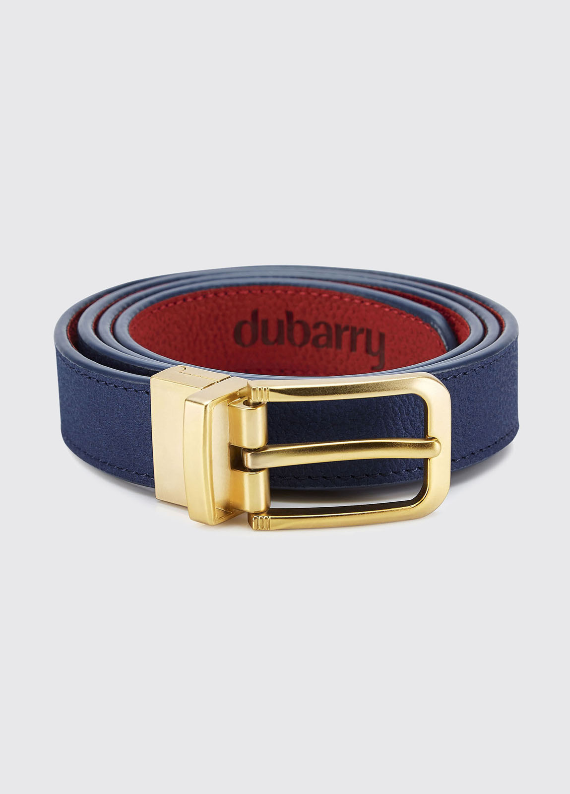 Foynes Leather Belt - Royal Blue