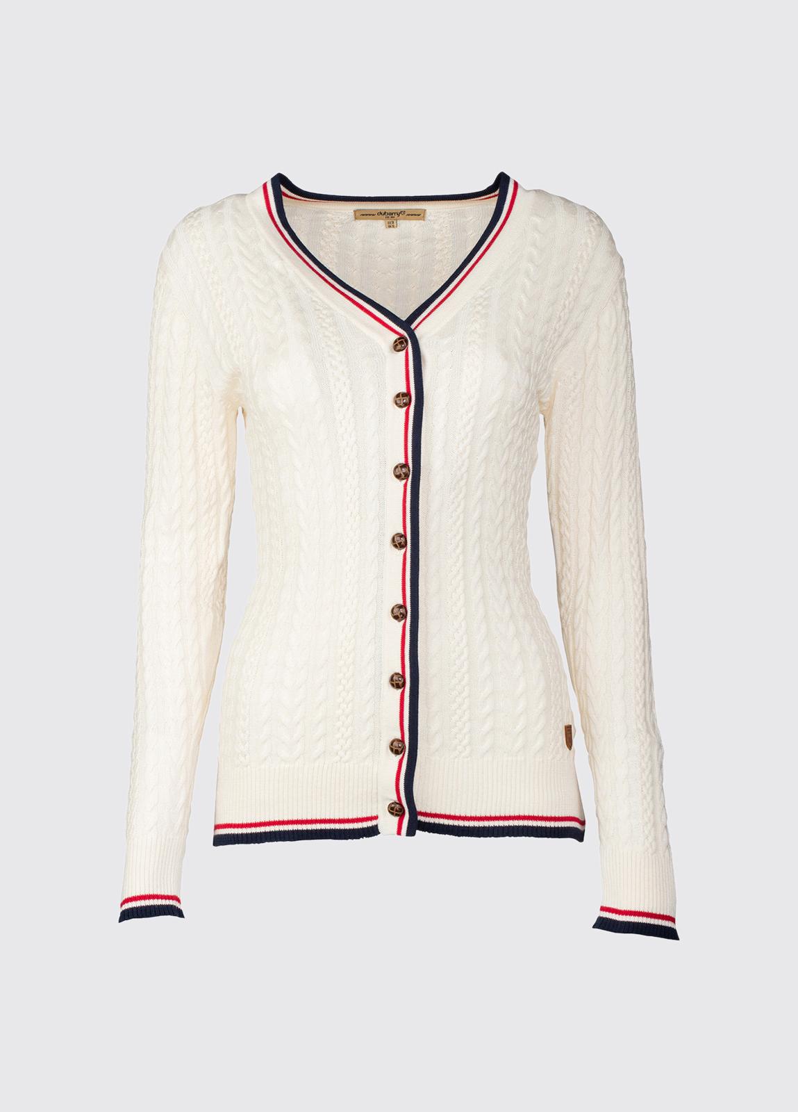 Gort Ladies Cardigan - Sail White