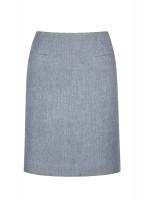 Sunflower Linen Ladies Skirt - Blue