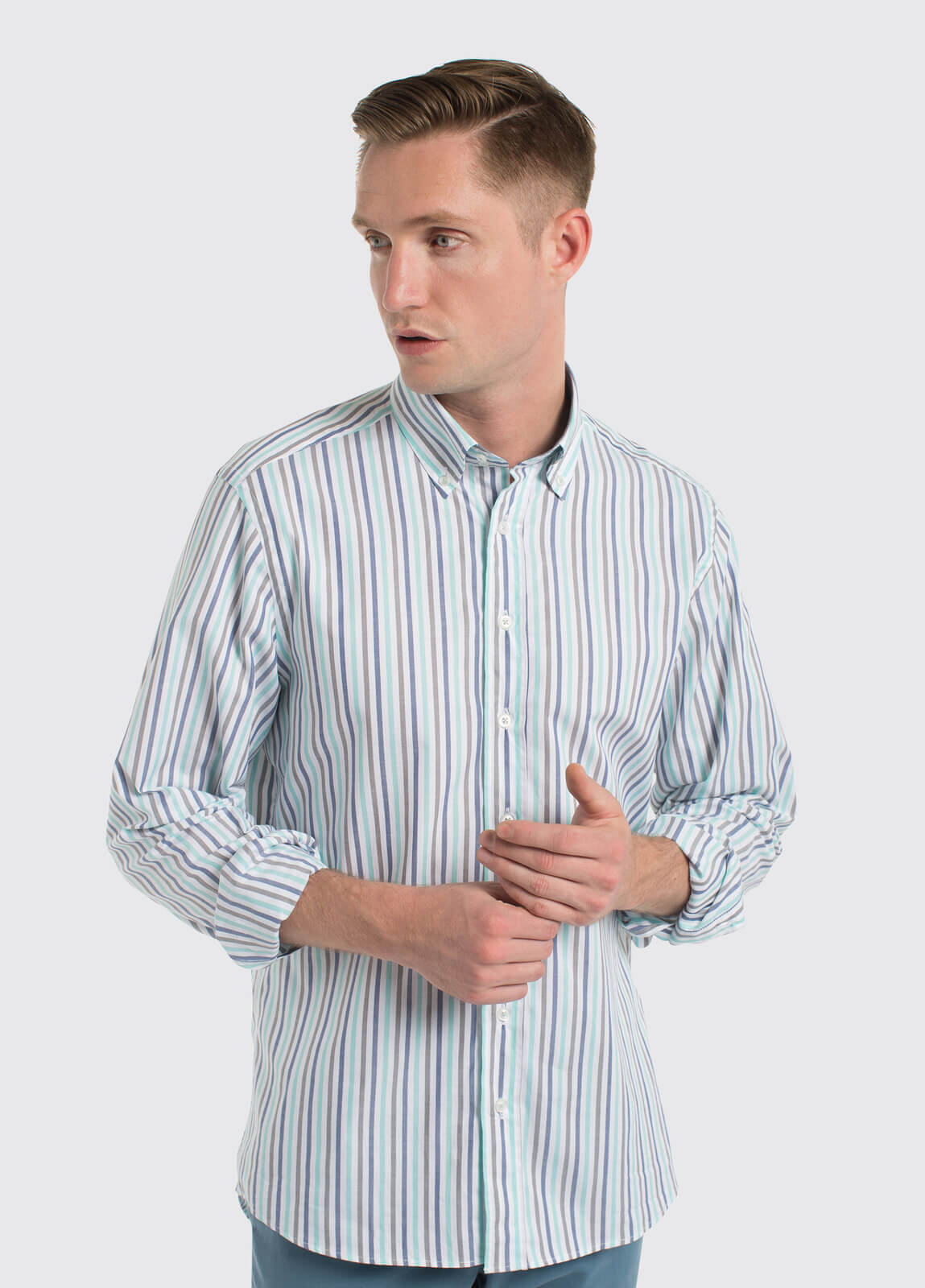 Kinvara striped shirt - Blue Multi