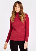 Brennan Knitted Sweater - Ruby