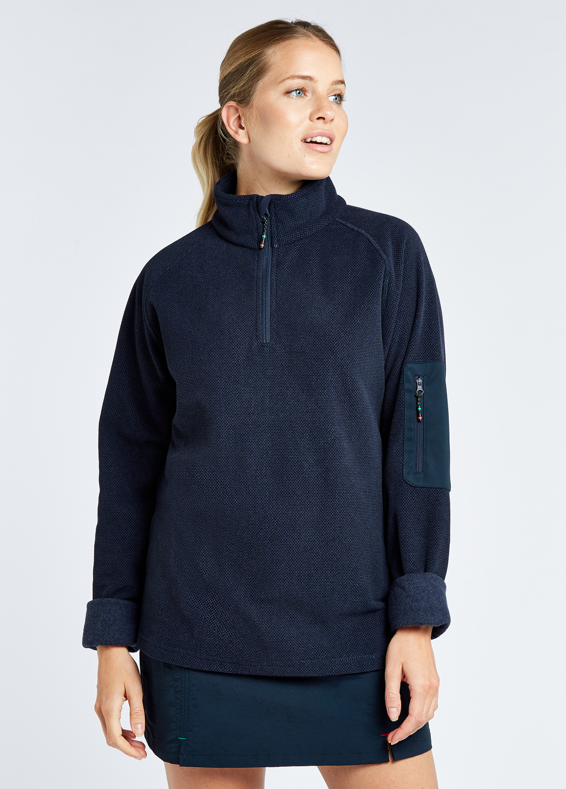 Monaco Unisex Quarter-zip Fleece - Navy