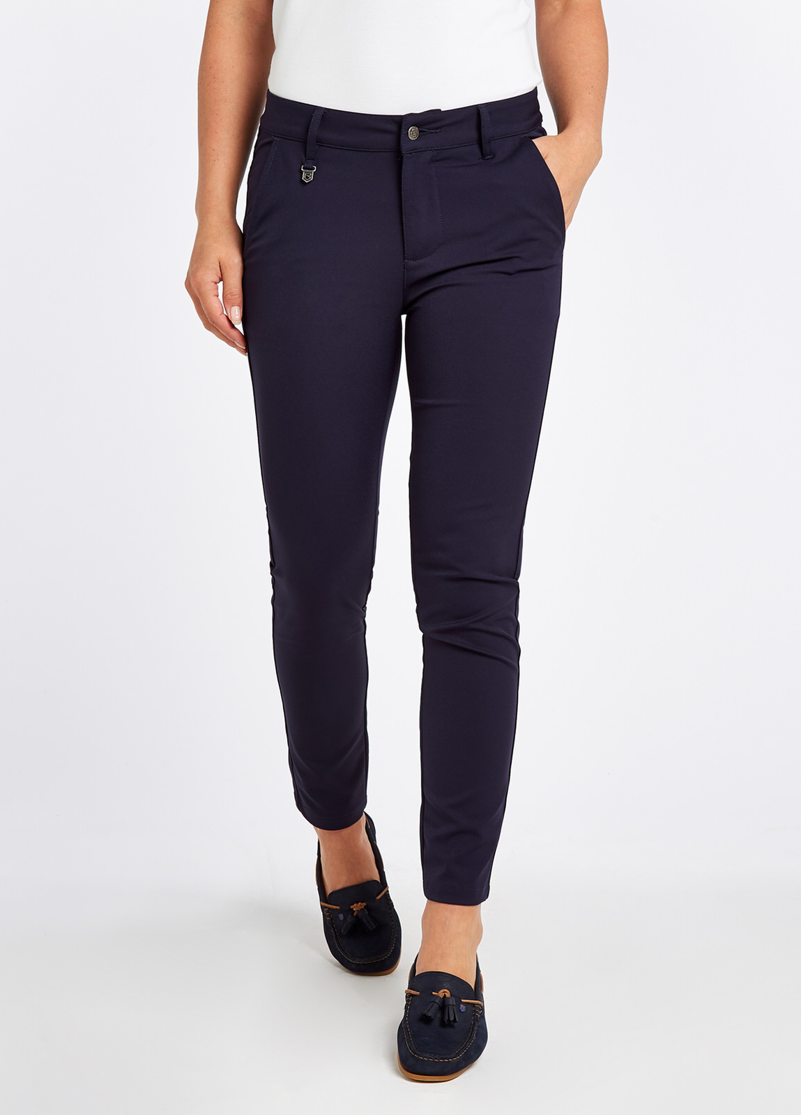Dubarry_Arklow_Cropped_Pants_Navy_on_model