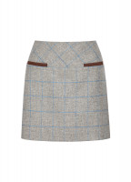 Clover Tweed Mini Skirt - Shale