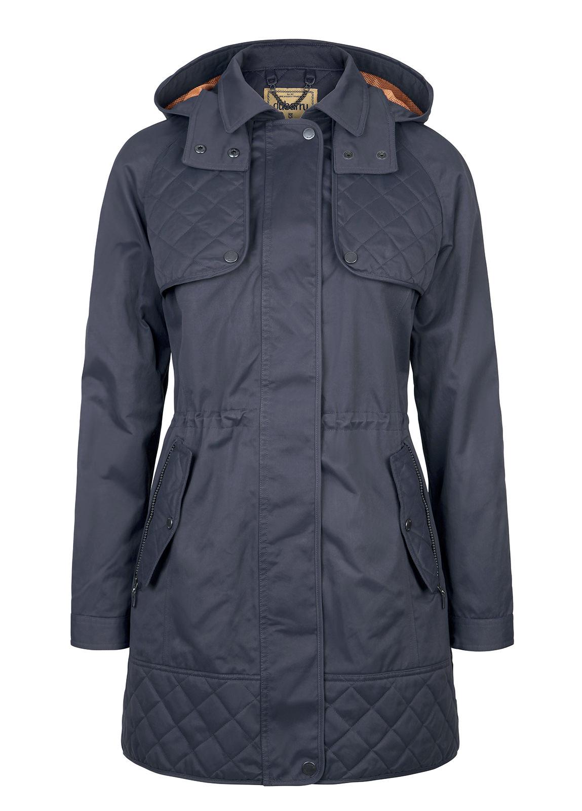 Barrington Women's Waterproof Hooded Coat - Navy