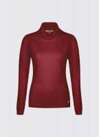 Redmond Classic Roll Neck Knitted Sweater - Crimson