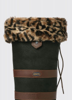 Faux Fur Boot Liners - Leopard