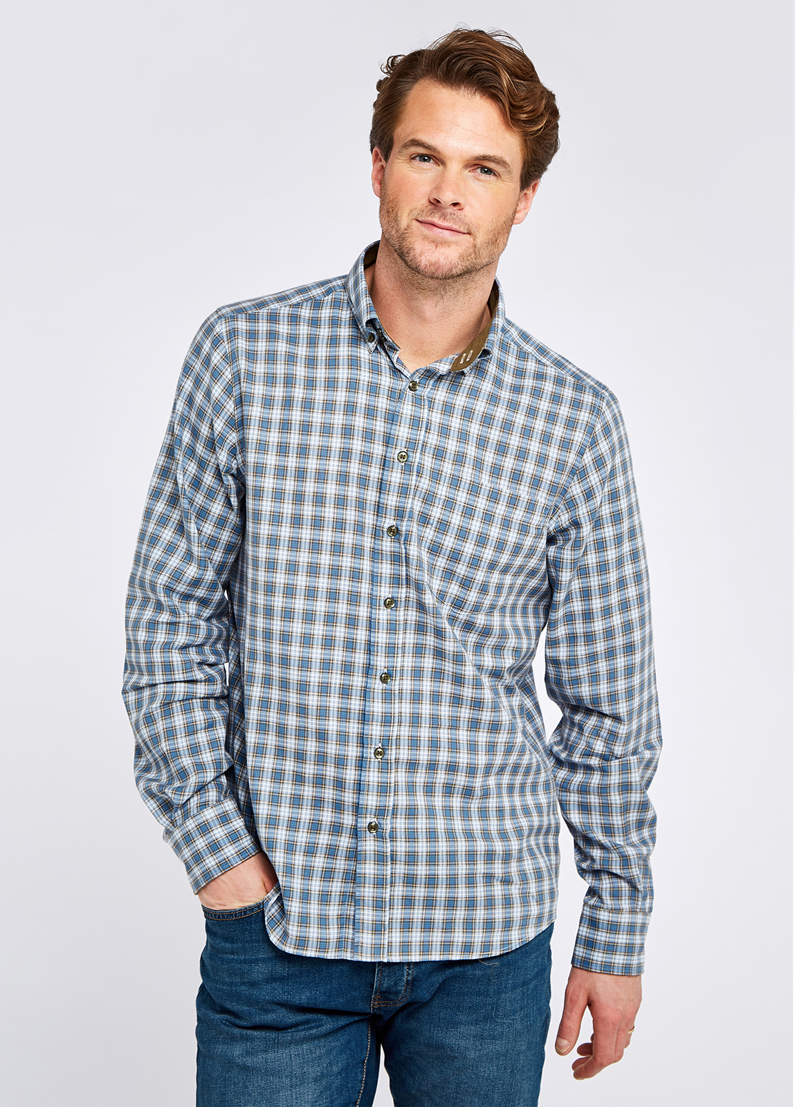 Richmond Check Shirt - Dusky Green