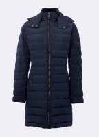 Devlin Quilted Coat - Navy