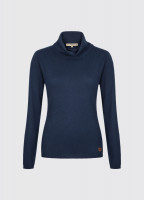 Redmond Classic Roll Neck Knitted Sweater - Navy
