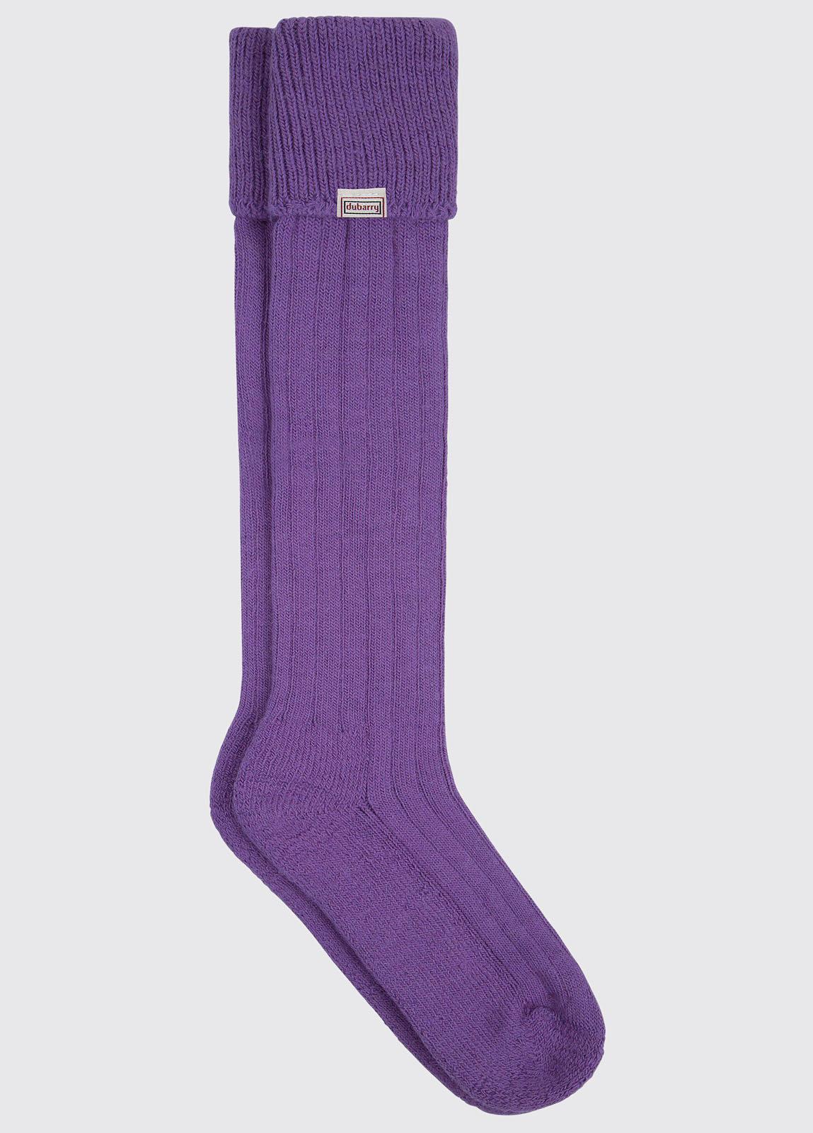 Alpaka knielange Socken - Whiskey