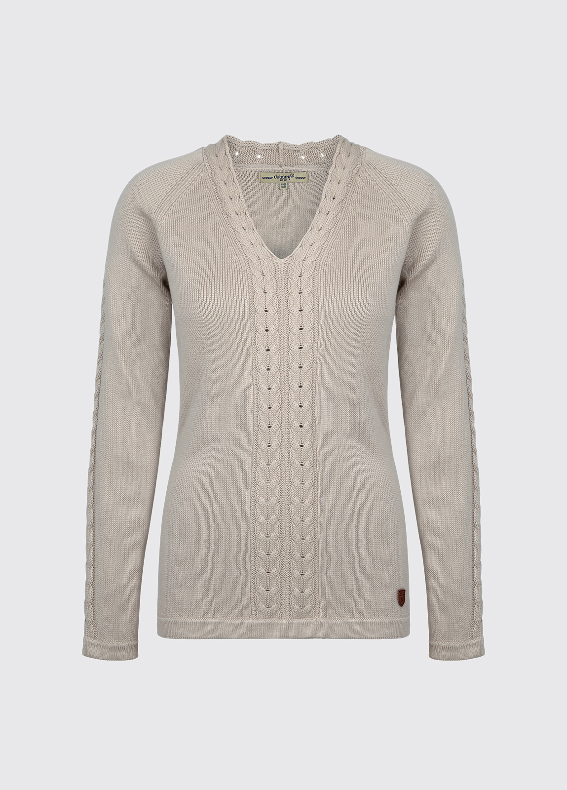 Carolan Women's V-neck Knitted Sweater - Sand
