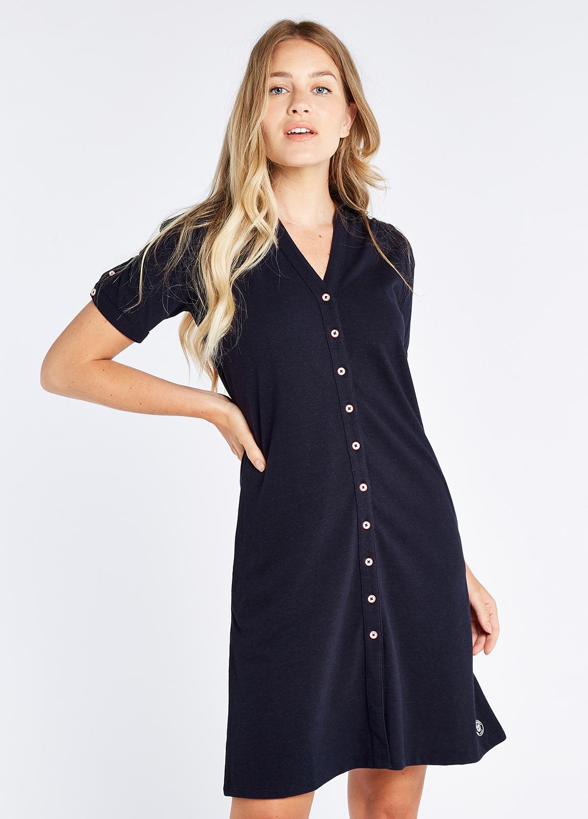 Druid Shirt Dress - Navy