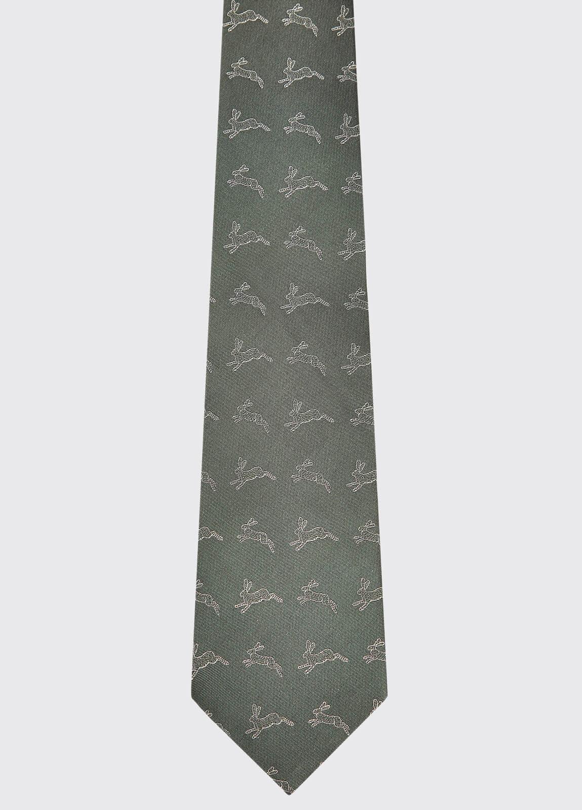 Lacken Silk Tie - Olive