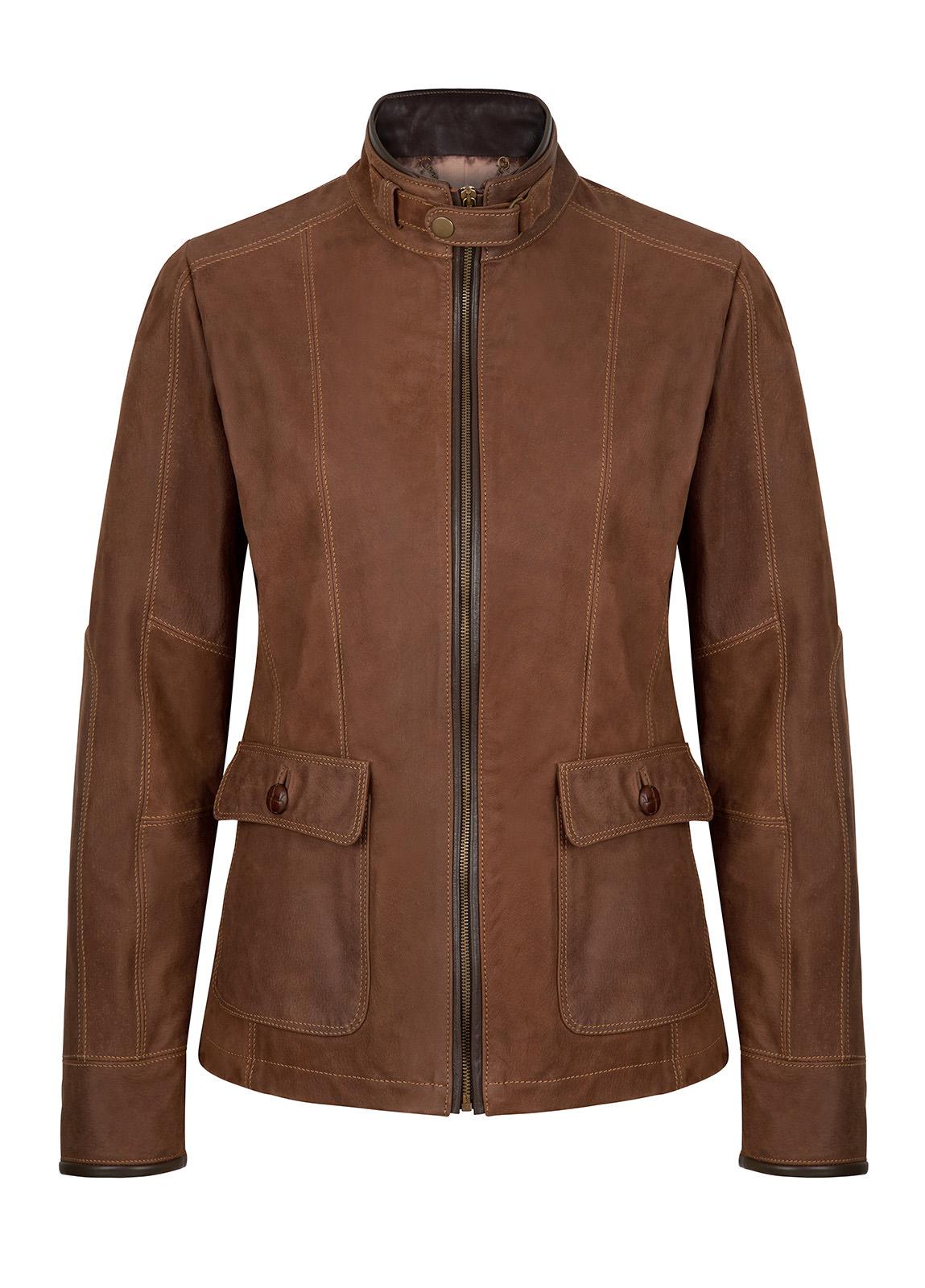 Dubarry_Mallow Leather Jacket. - Walnut_Image_2
