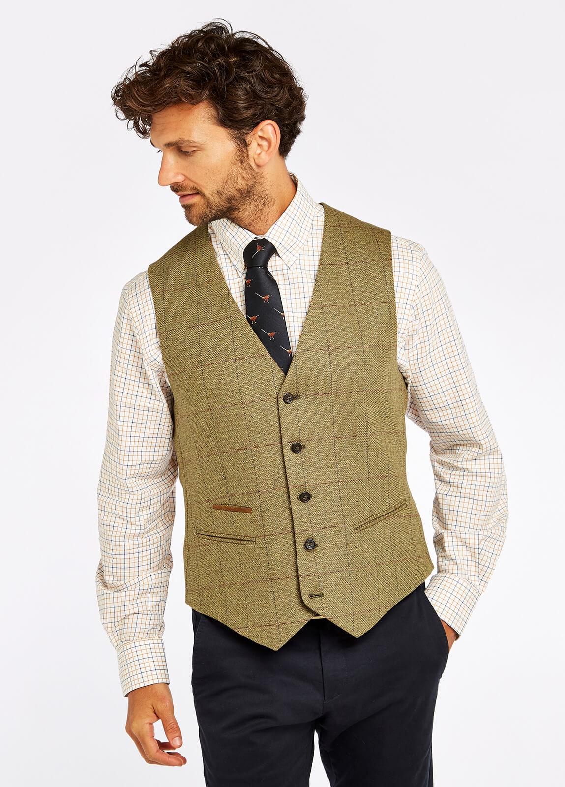 Ballyshannon Tweed Waistcoat - Beechwood