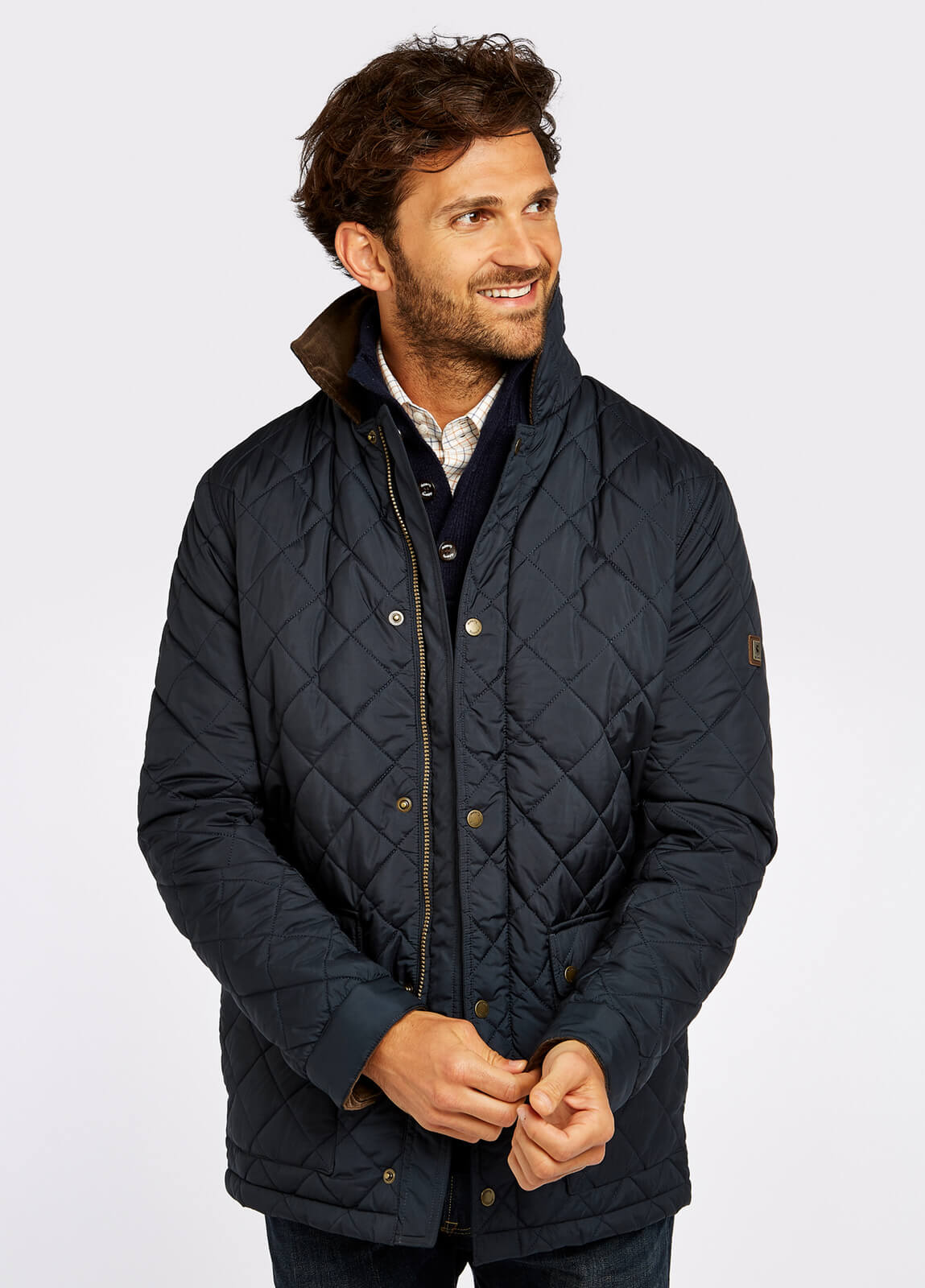 Adare Quilted Jacket - Navy