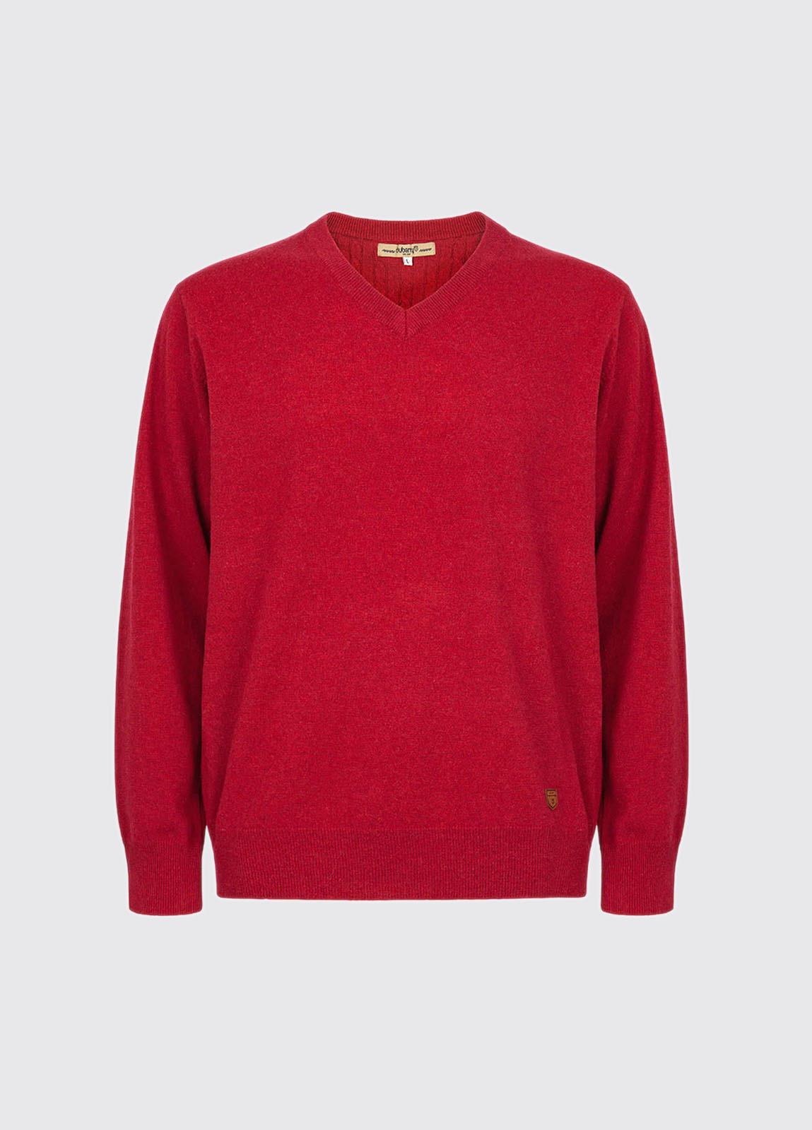 Brennan Men's Knitted Sweater - Crimson