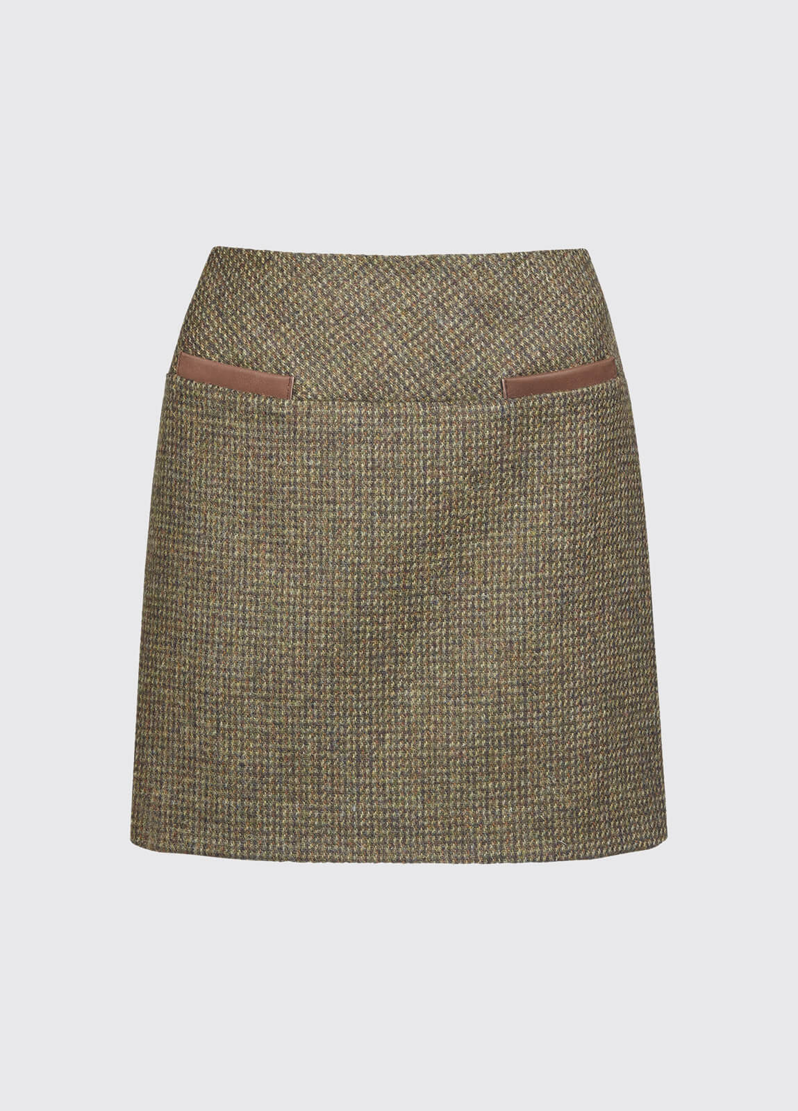 Clover Tweed Mini Skirt - Heath