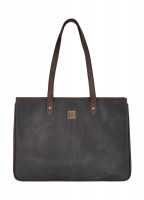 Loughrea Tote Bag - Black/Brown