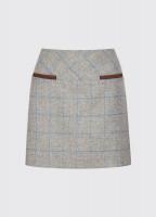 Clover Tweed Mini Skirt - Shale