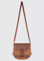 Clara Leather Saddle bag - Brown