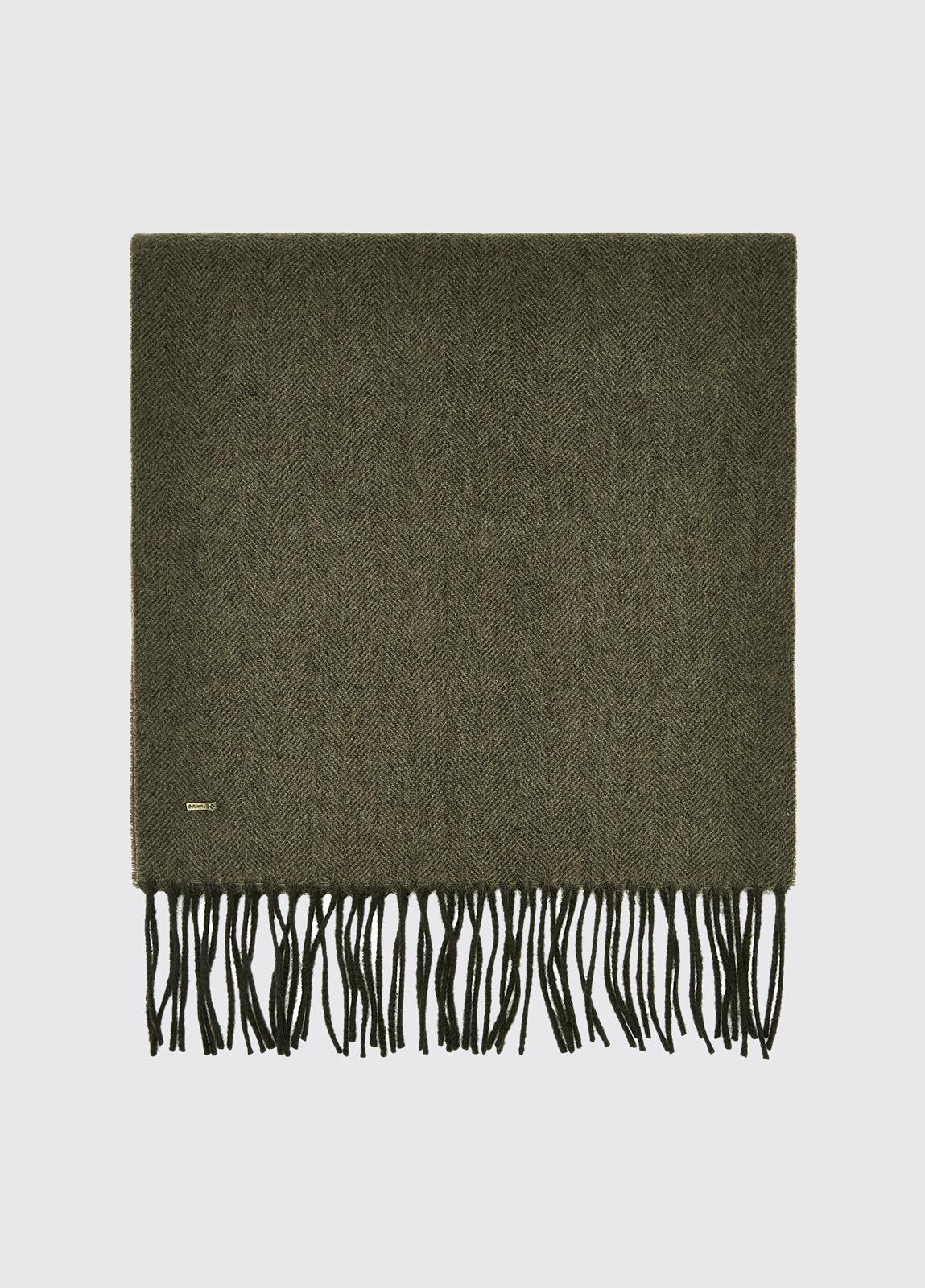 Robinson Wool Scarf - Dusky Green