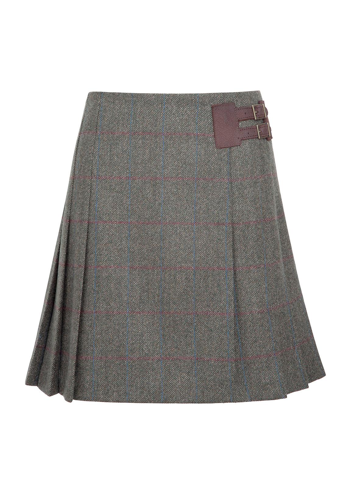 Dubarry_ Foxglove Tweed Skirt - Moss_Image_2