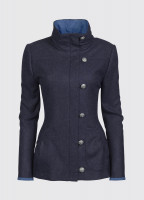 Bracken Tweed Coat - Blue Multi