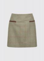 Clover Tweed Mini Skirt - Acorn