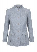 Malahide Women's Linen Jacket - Blue