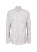 Slane Men's Cotton Button Up Shirt - Brown Multi