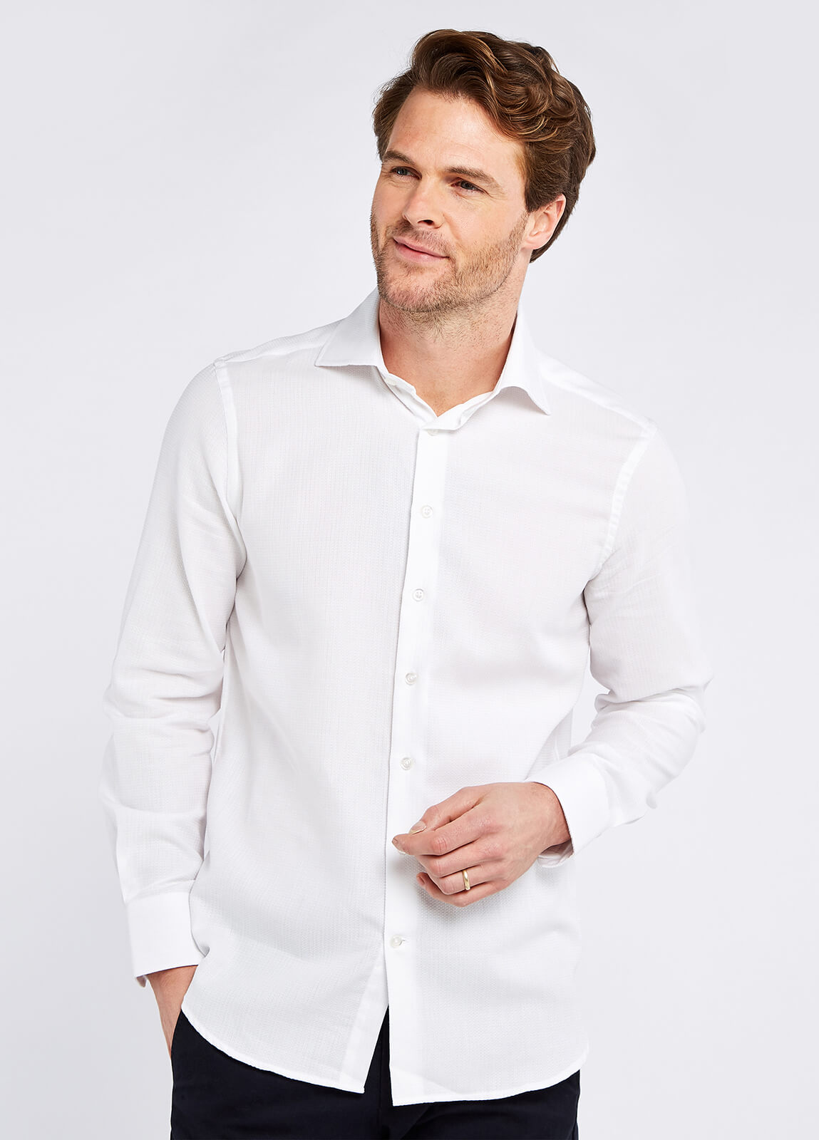 Herbert Tailored Fit Shirt - White