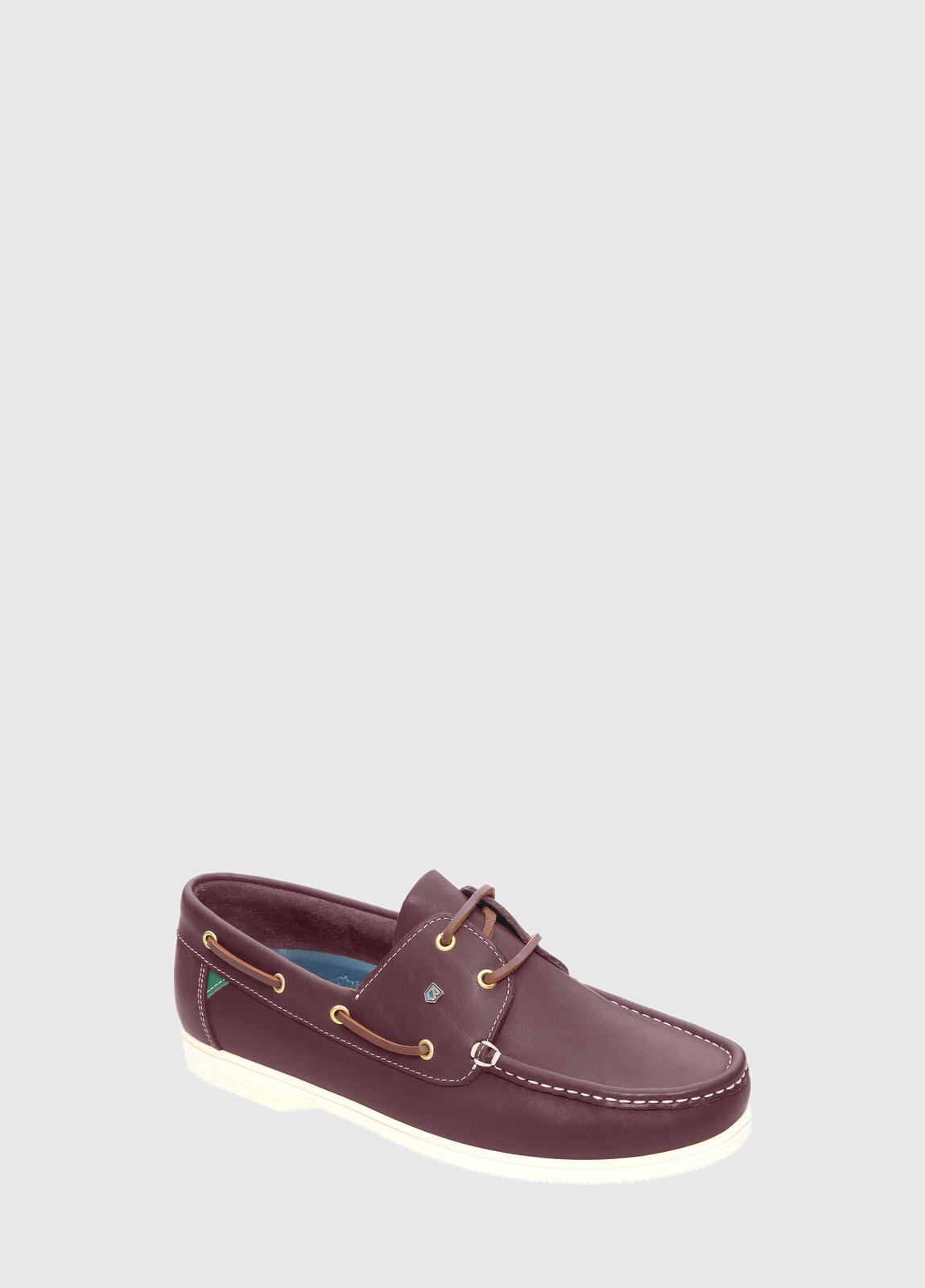 Admirals Deck Shoe - Burgundy
