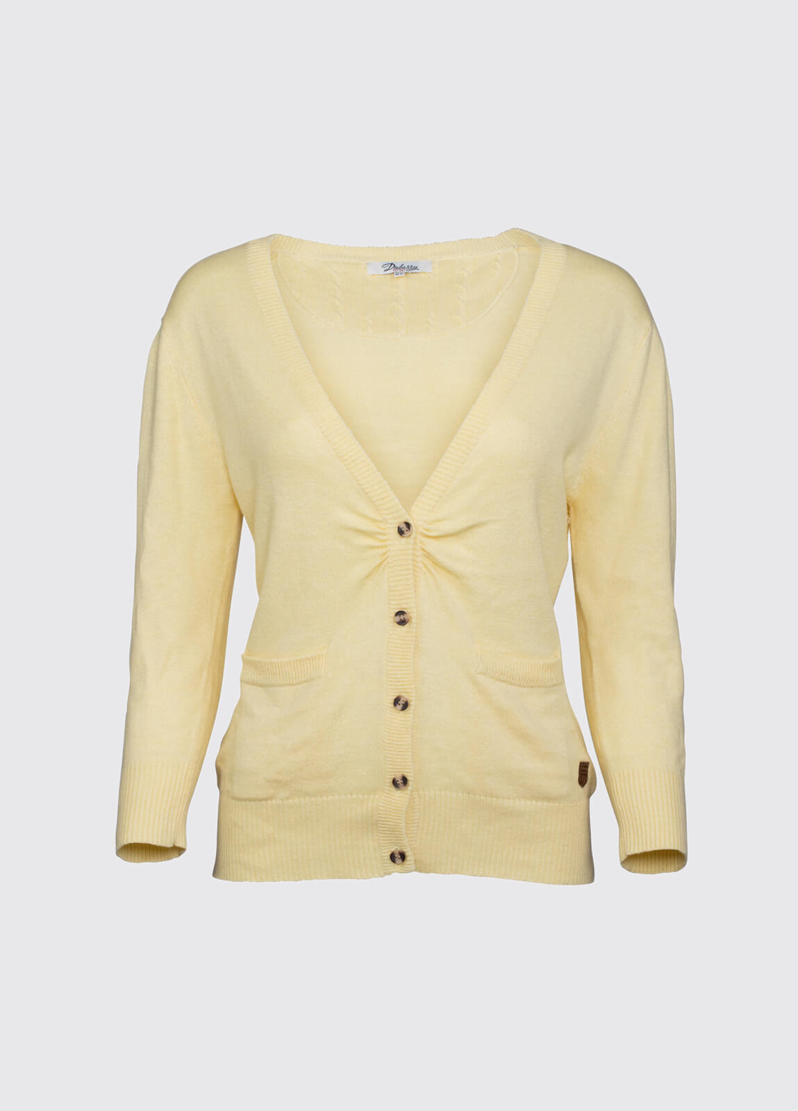 Clarecastle Ladies Cardigan - Lemon