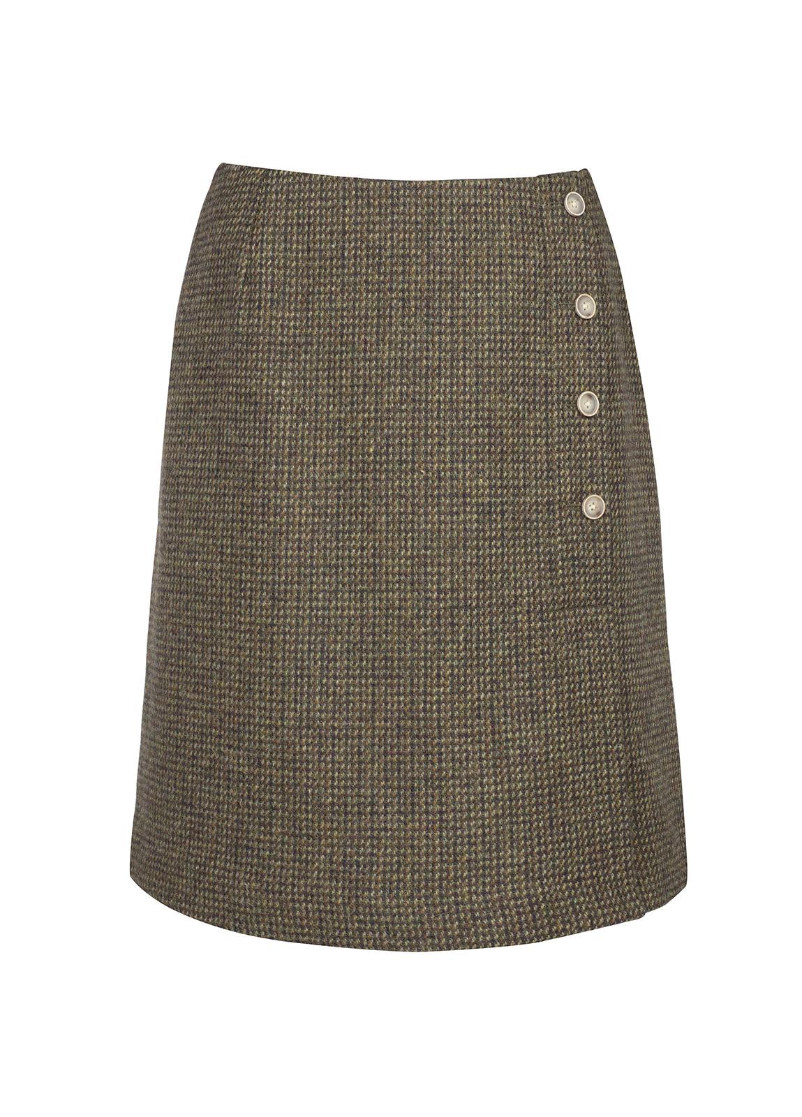 Dubarry_ Marjoram Slim Tweed Skirt - Heath_Image_2