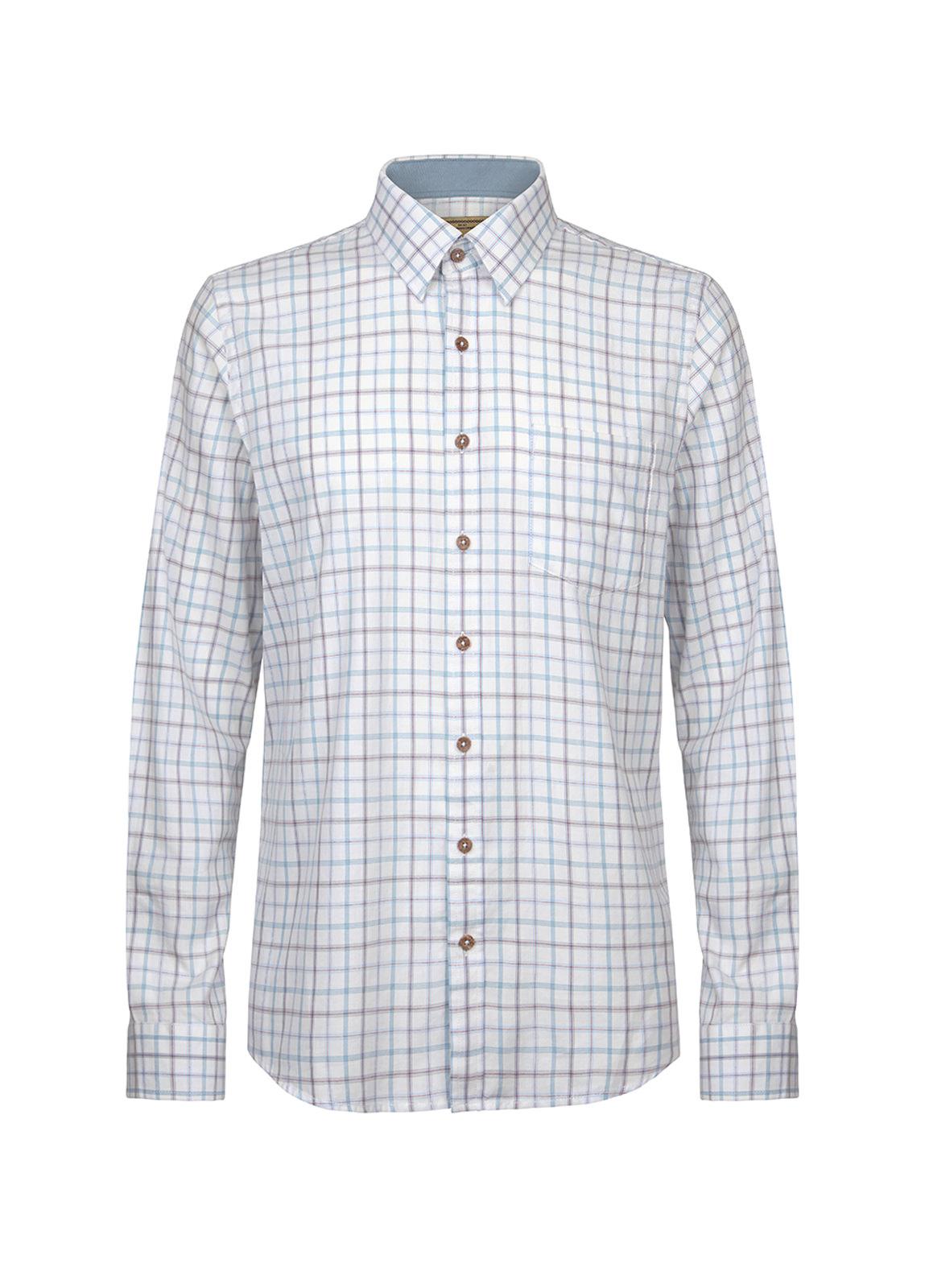 Dubarry_ Roundwood Men's Tattersall Check Shirt - Blue Multi_Image_2