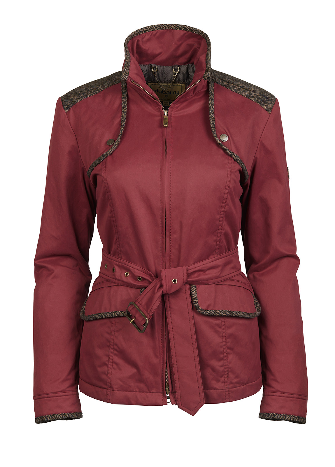 Dubarry_ Enright Belted Jacket - Merlot Multi_Image_2