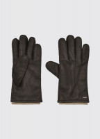 Lisryan Leather Gloves - Mahogany