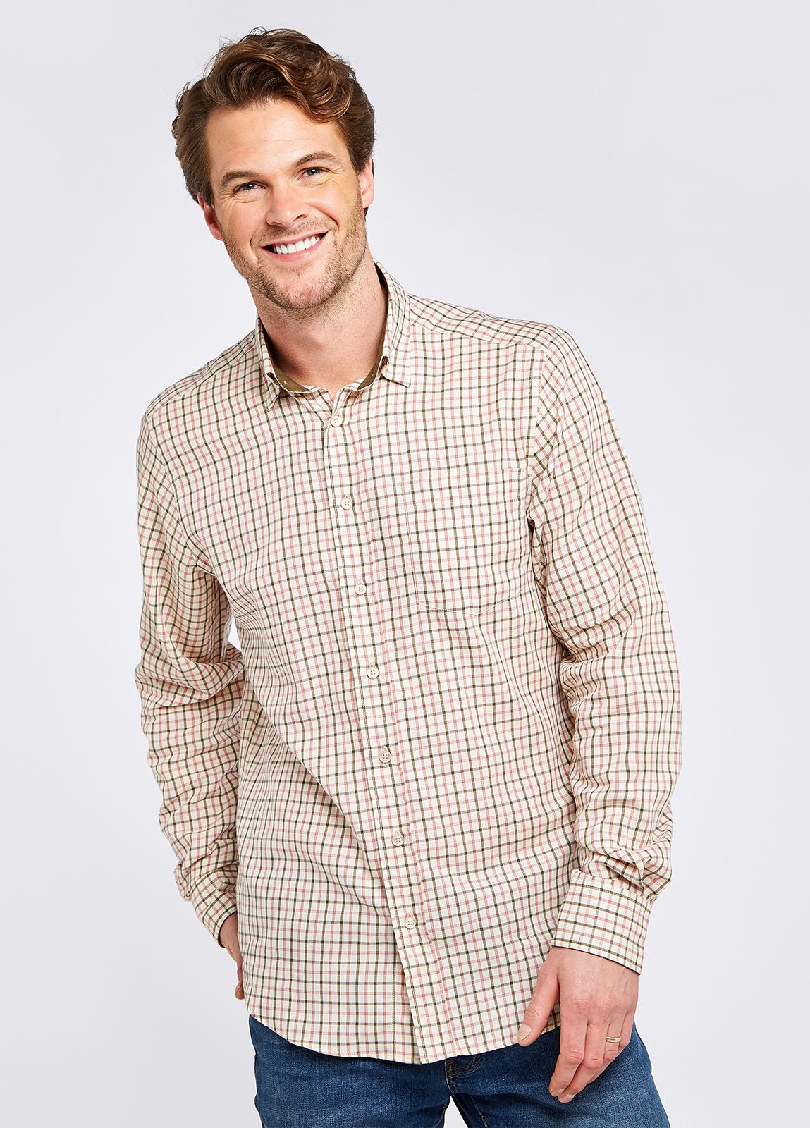 Connell Tattersall Check Shirt - Dusky Green