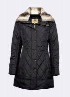 Kenmare Quilted Coat - Black