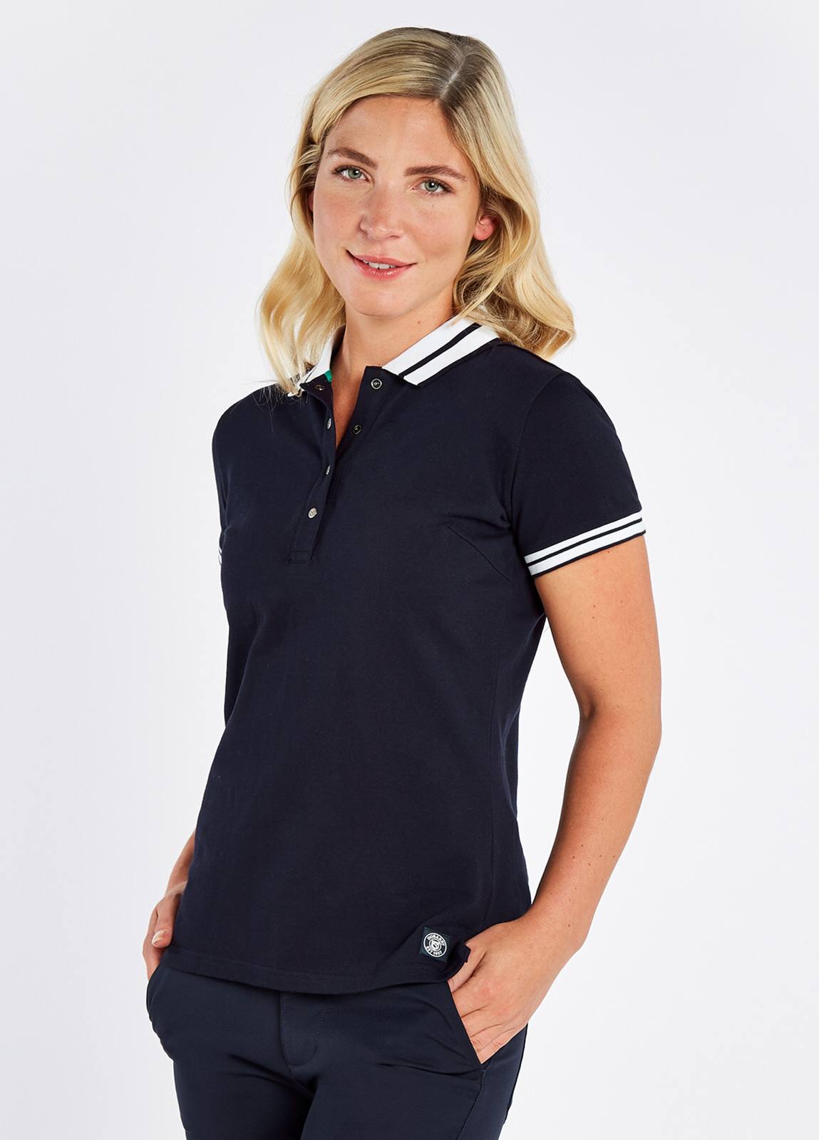 Dubarry_Parkmore_Polo_Navy_on_model